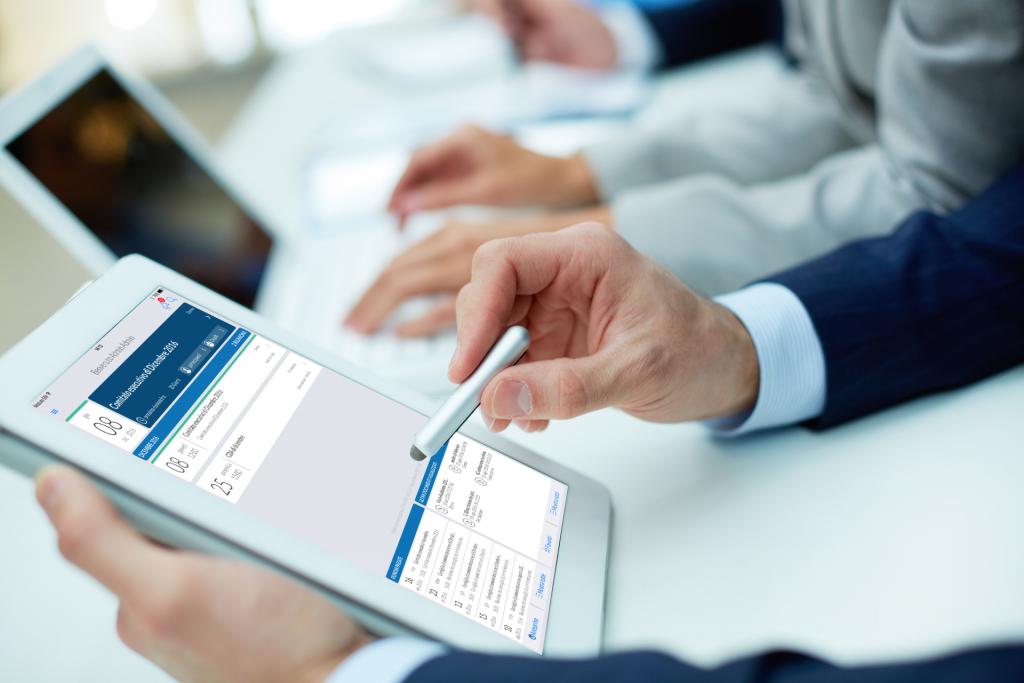 Partecipare a un CdA usando solo un'app per tablet