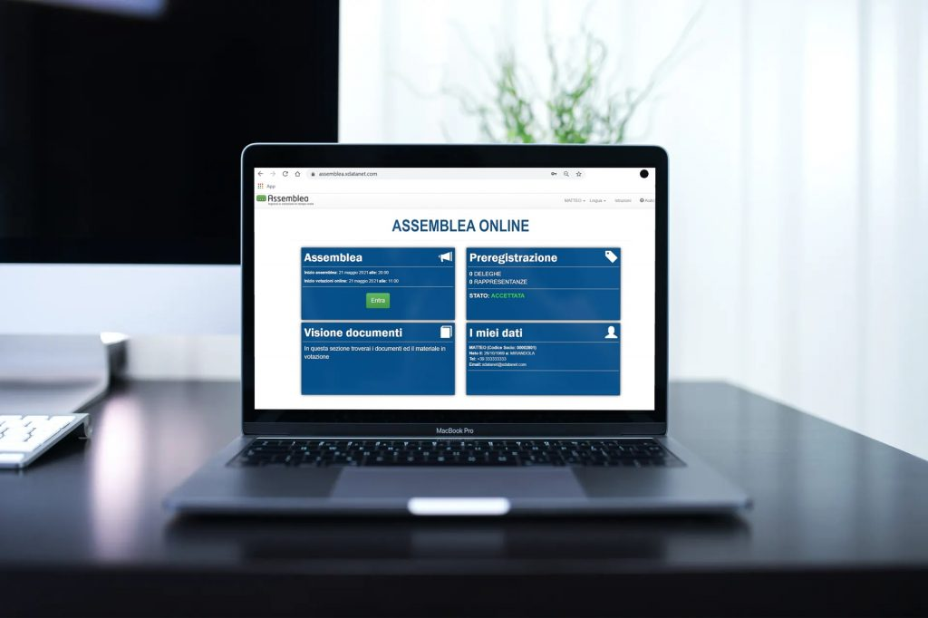 Assemblea Online, general meeting management software