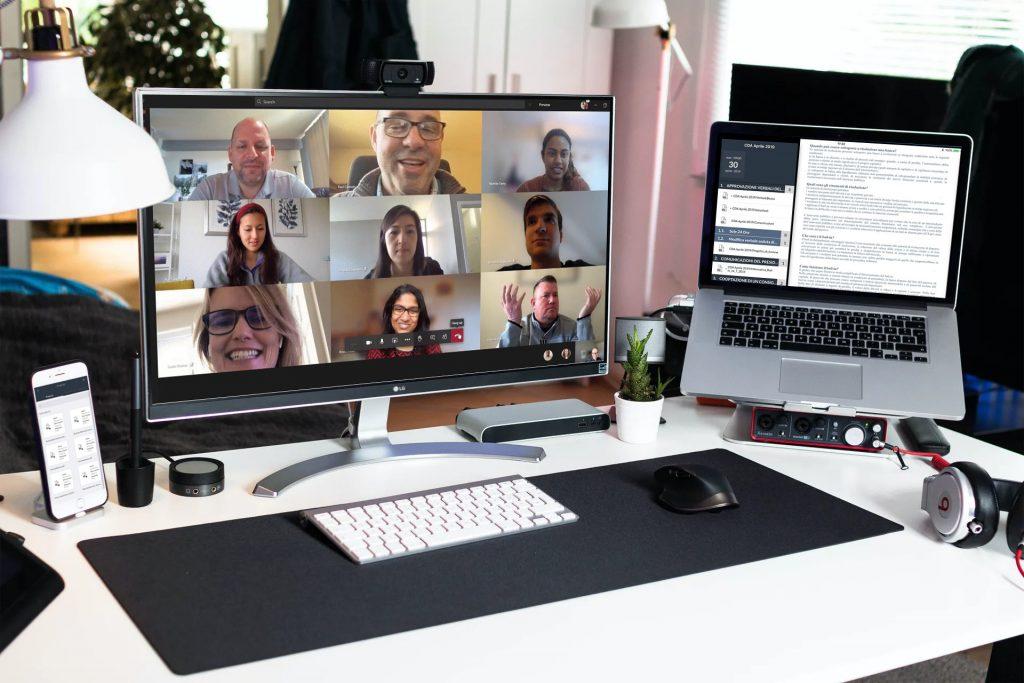 Consiglio di Amministrazione gestito in videoconferenza grazie a CDA ON BOARD